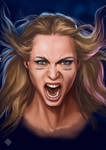Angela Gossow, just for practice