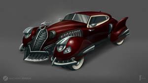 Fantasy retro car concept