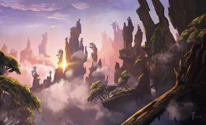 Sky rocks landscape concept