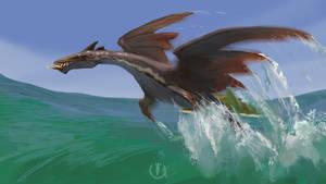 Marine dragon speedpaint