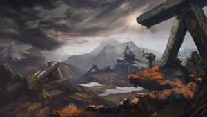 Stone valley | Fantasy landscape concept art