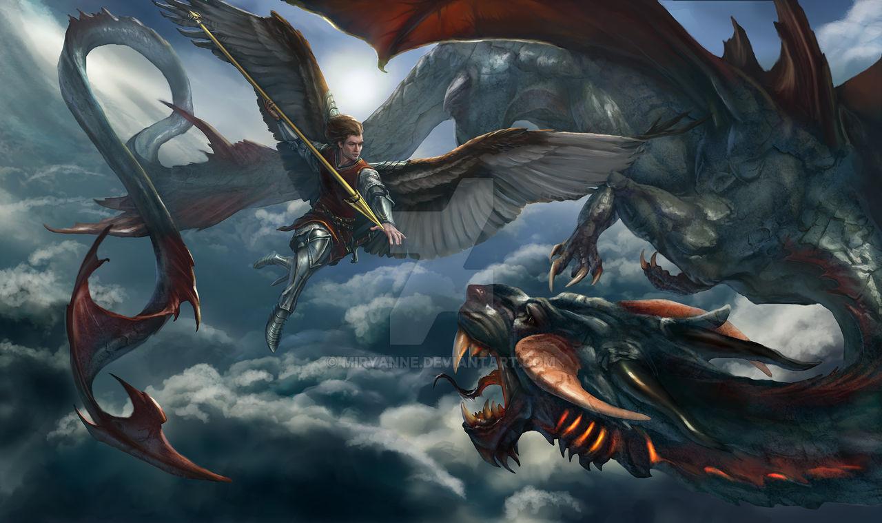 St Michael vs Dragon epic battle