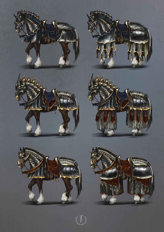 Nilfgaardian heavy horse armor  The Witcher fanart