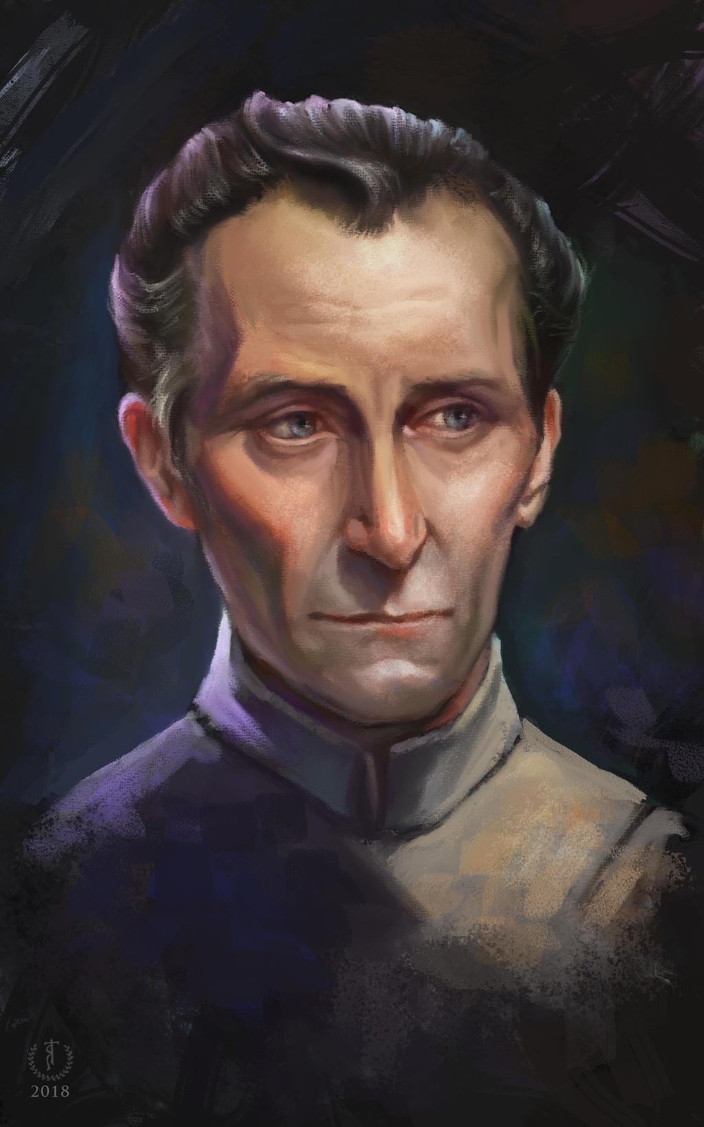 Tarkin/Peter Cushing   Star Wars portrait study
