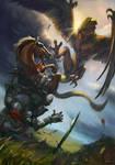 Basilisk attack | The Witcher Gwent card fanart