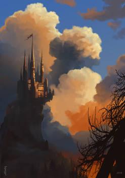 Environment study, fantasy castle