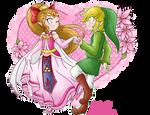 .: Hero and Princess of Four :. by PinkHyrulePrincess