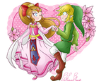 .: Hero and Princess of Four :. by PinkHyrulePrincess