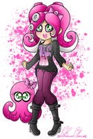 .: That Pretty Octoling Girl :. by PinkPrincessBlossom