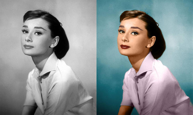 hepburn hair style hepburn colorized by all1na on deviantart 1288
