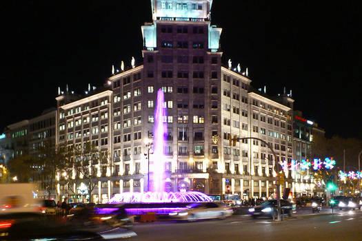 Purple fountain