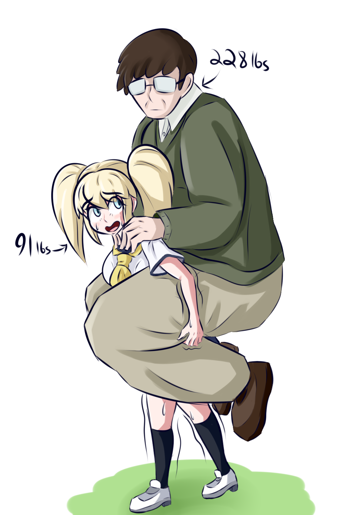 Image result for too heavy piggyback
