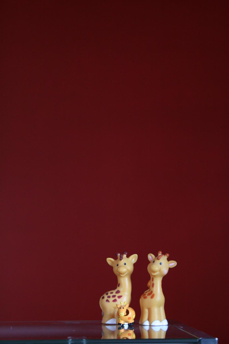 Giraffes + Red by jeenyusboy5