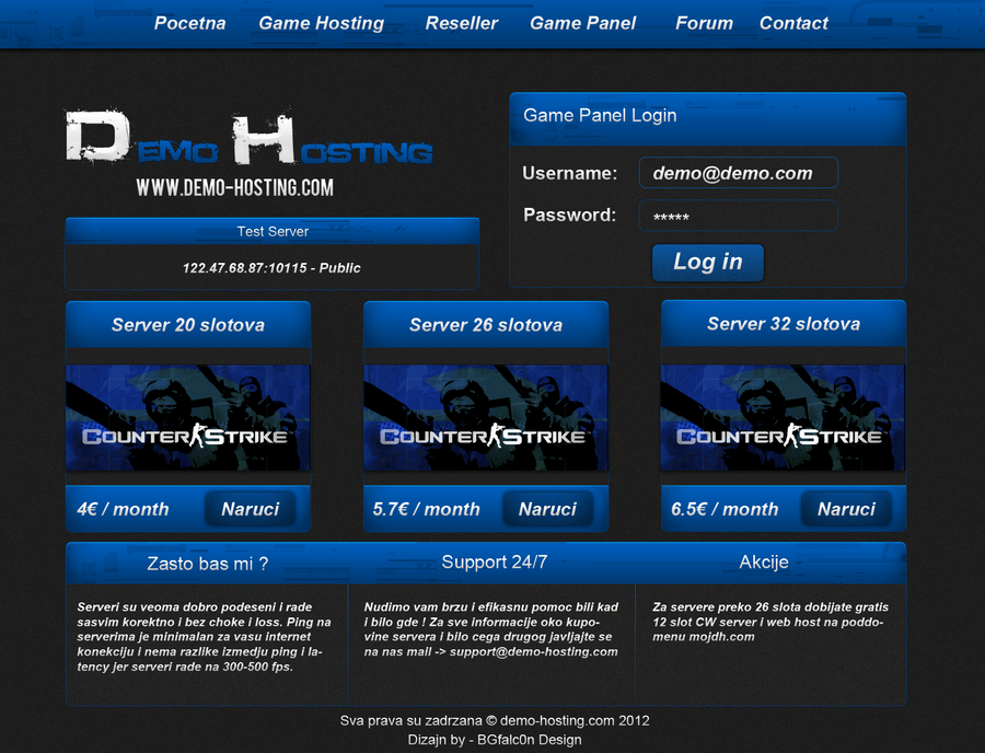 Game Hosting Template by bgfalcon on DeviantArt