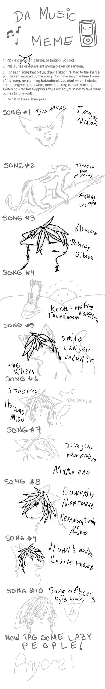 .:Music Meme:. by Yumenoookami