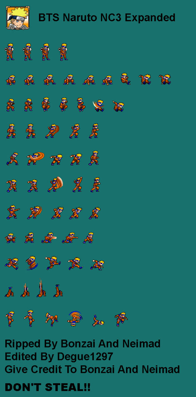 Naruto Nc3 Sprite Sheet Expanded By Degue 1297 On Deviantart