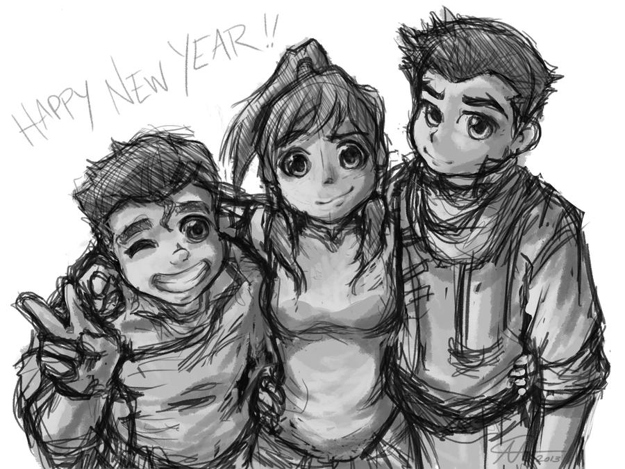 LoK - Happy New Year! by sapphiresky1410