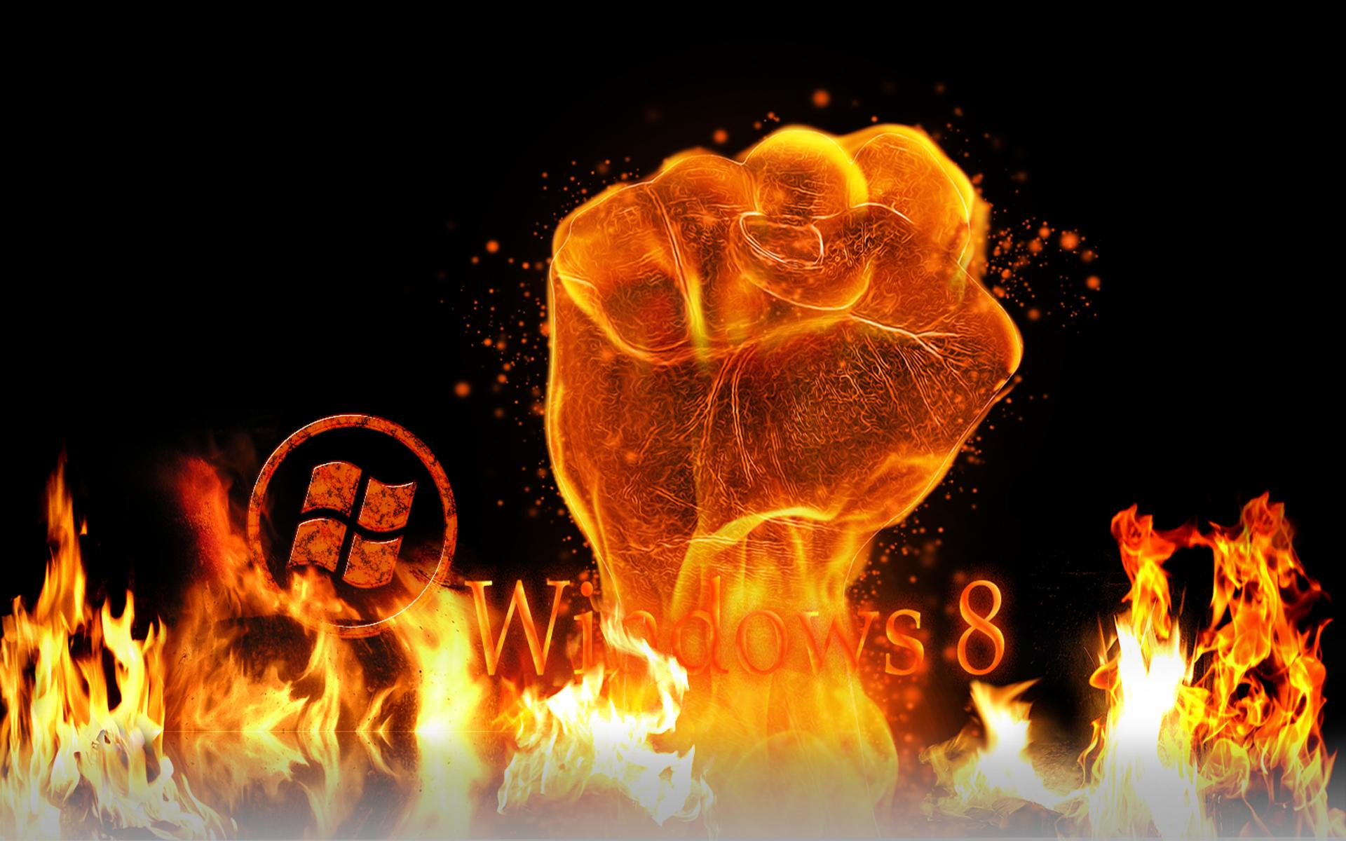 Eight Rolls Of Four Free Fire Wallpaper: Win 8 Fire Wallpaper By Kubines On DeviantArt