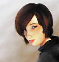 Painting of a Girl by areautena