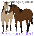 jubjub18 and My pixel art horses by SLEC-EqIsMyLife