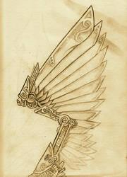 Steampunk Wing by AeroNumi