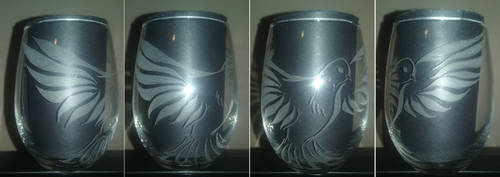 Stemless Wine - Dove by Scarred-Eye