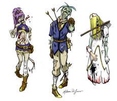 RPG Zombies by MistressMiel