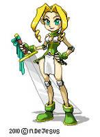 Original Pixel Art : Kyuri by MistressMiel