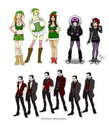 Santa versus Dracula character sheet 1 by MistressMiel