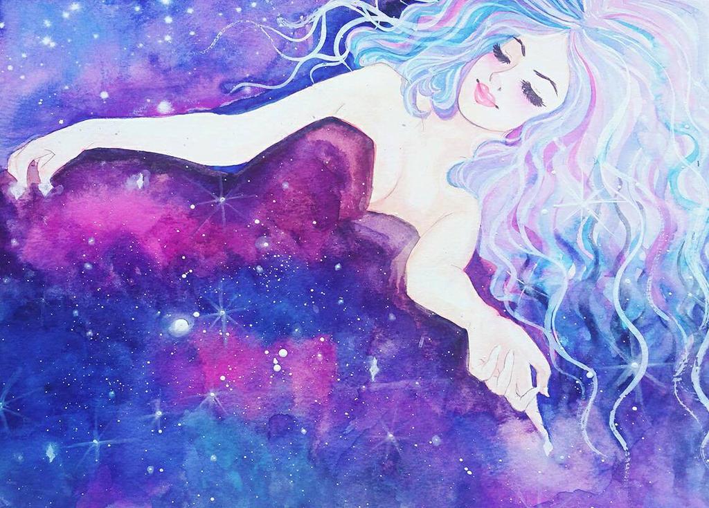 Galaxy naps by Tamoko
