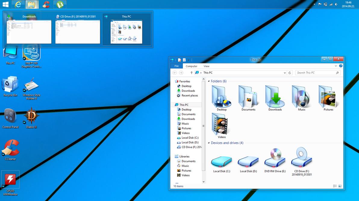 Windows 8.1 aero glass preview by Robi450
