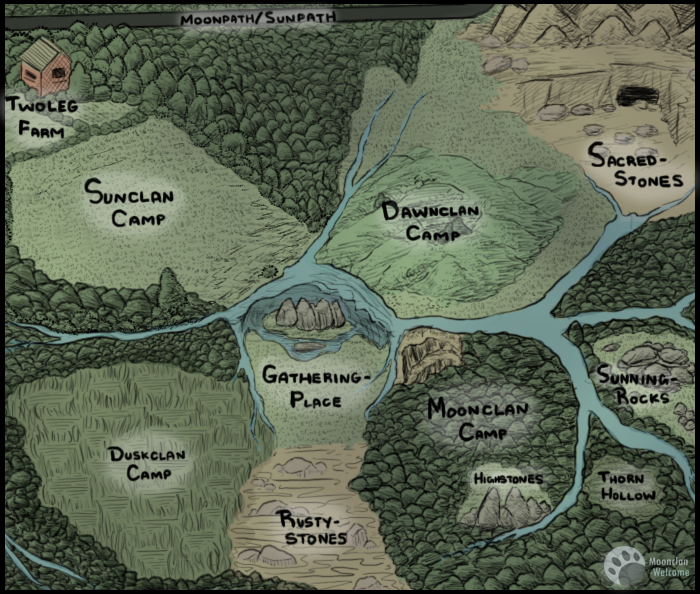 Moonclan-Welcome Territory Map by CeruleanOasis