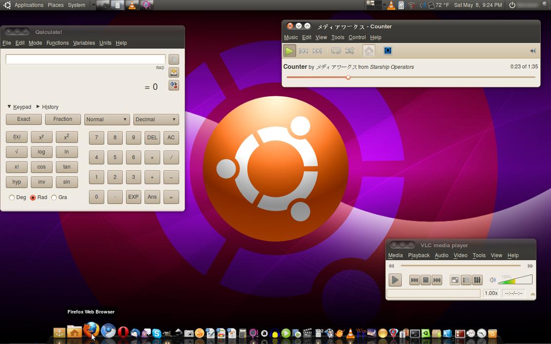 Dark Ubuntu Look 5-8-2010 by technokoopa