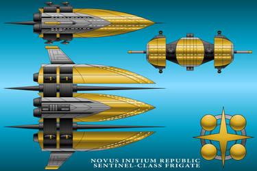 Sentinel-Class Frigate - Novus Initium Republic by technokoopa