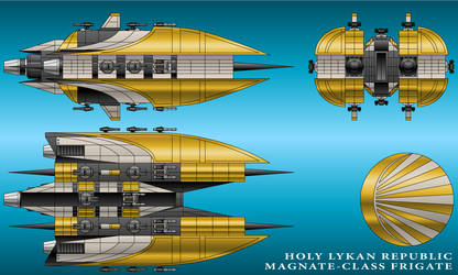 Magnate-Class Frigate - Holy Lykan Republic by technokoopa