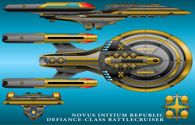 U.S.S. Defiance - Novus Initium Republic Version by technokoopa