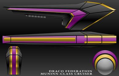 Muninn-Class Cruiser-Draco Federation by technokoopa