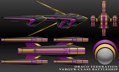 Vargur-Class Battleship-Draco Federation by technokoopa