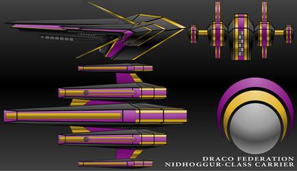 Nidhoggur-Class Carrier-Draco Federation by technokoopa