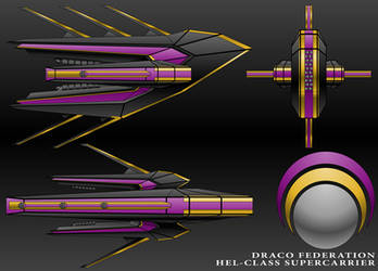 Hel-Class Supercarrier-Draco Federation by technokoopa