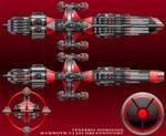 Mammoth-Class Dreadnought-Tenebris Dominion by technokoopa
