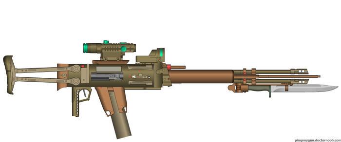 Ripper Double Barreled Assault Rifle