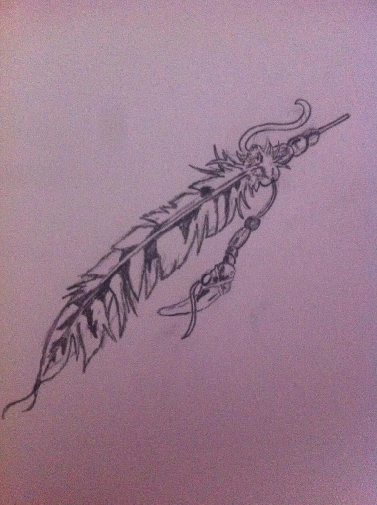 Indian Feather Tattoo Design Picture 2