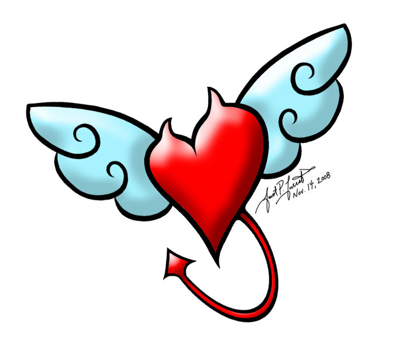 small heart tattoos with wings. heart tattoos with wings.