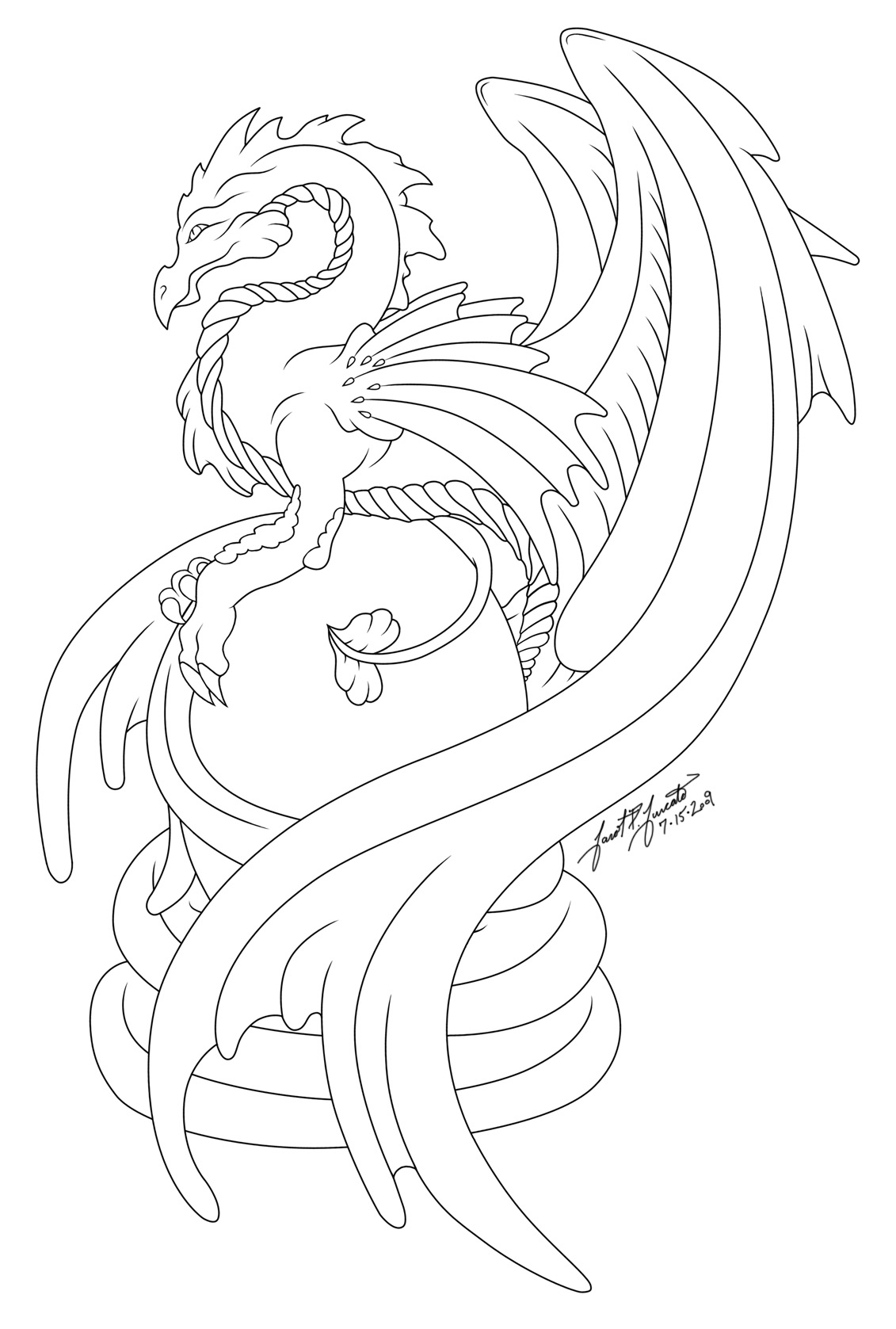 Line Art Dragon : Dragon s egg line art by pulsedragon on deviantart