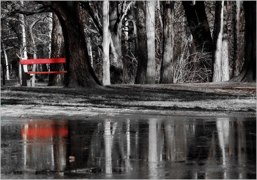 ...red bench... by lisztikriszti
