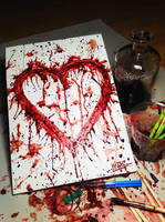 Blood painting (My Heart)