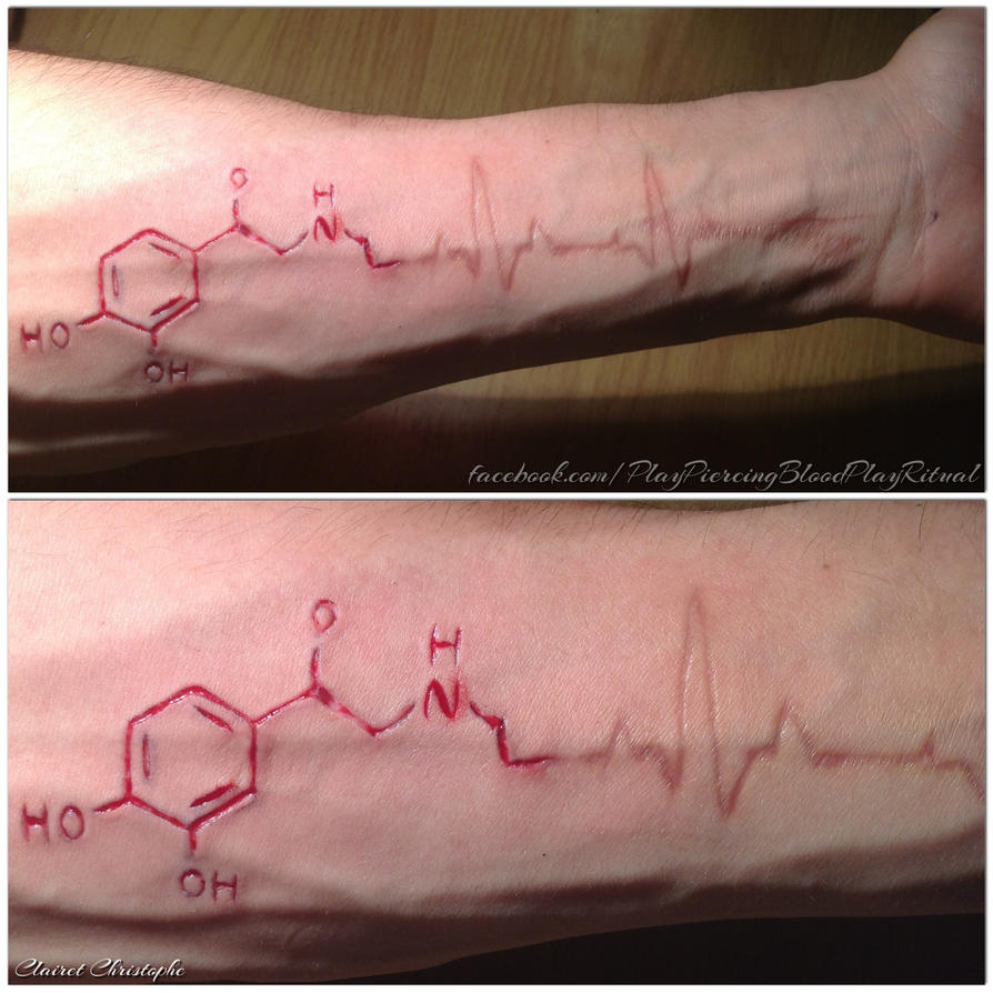 my arm scar adrenaline molecule by thechristoff on