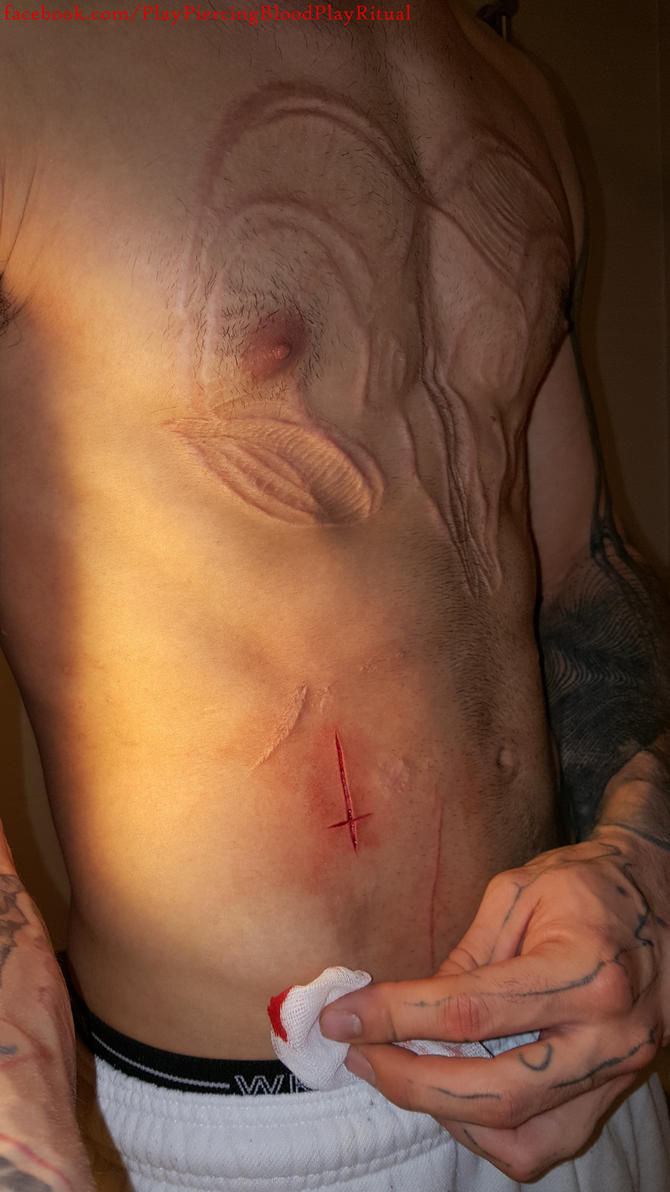 crucifix scarification by TheChristOff