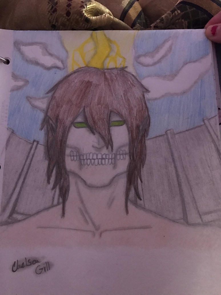 Eren Yeager as titan form by THEgillgeneration